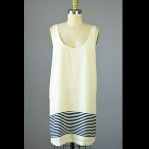 Joie 100% Silk Ivory Striped Tank Dress